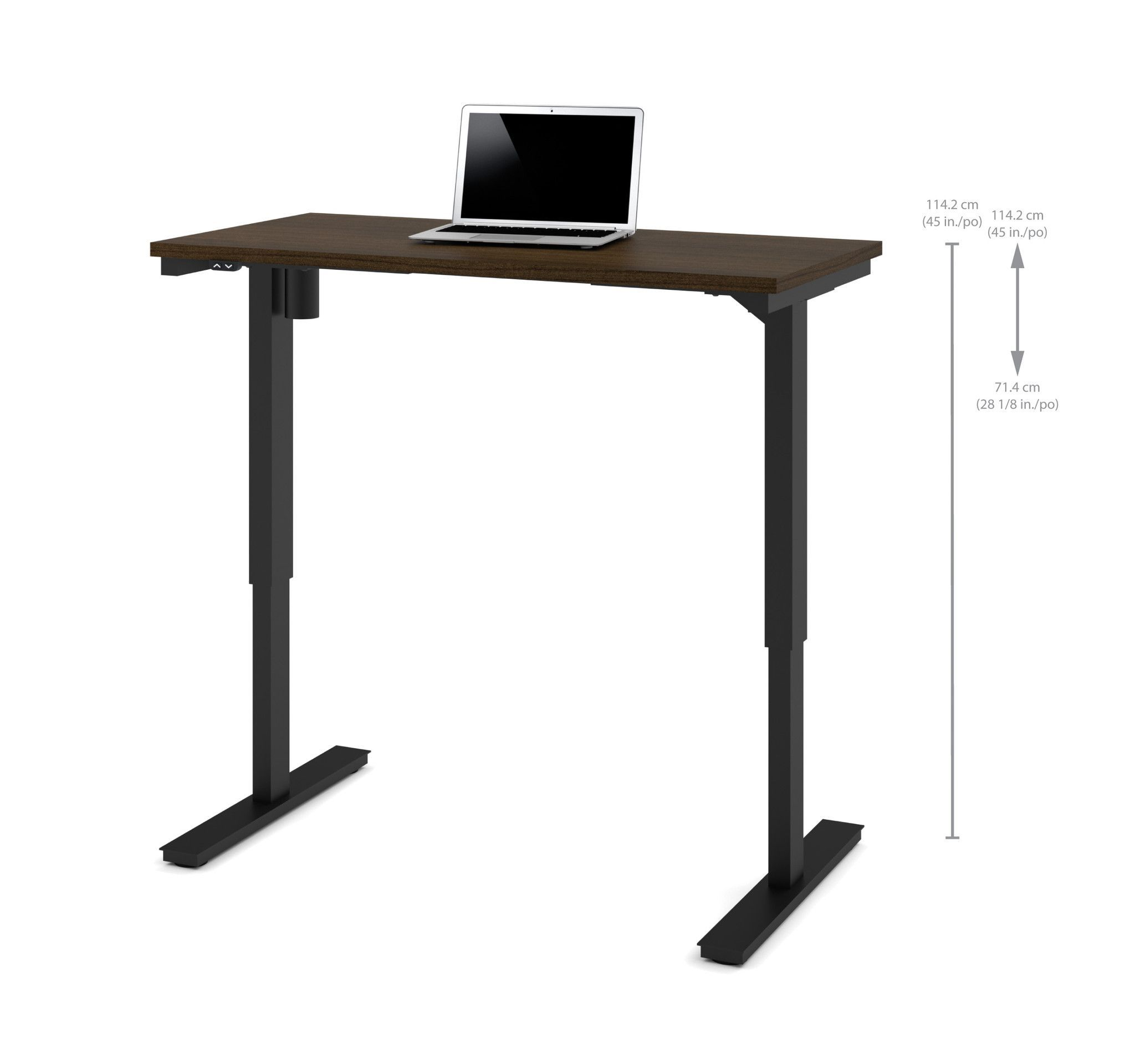 48 Sit Stand Electric Height Adjustable Office Desk In Tuxedo 28