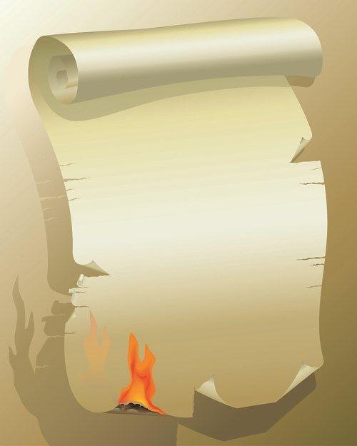 Set Of Burning Old Paper Design Vector 05 Old Paper Paper Design Paper