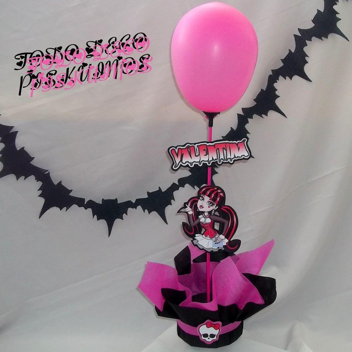 Monster High Draculaura Centros De Mesa - $ 120,00 en MercadoLibre |  Cumpleaños de monster high, Fiesta de monster high, Monster high
