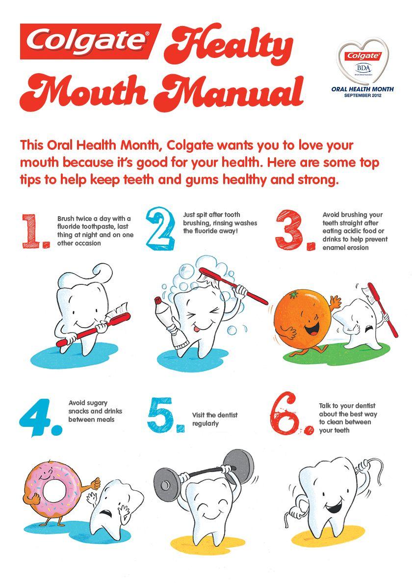 Colgate healthy mouth manual dental cosmetics oral