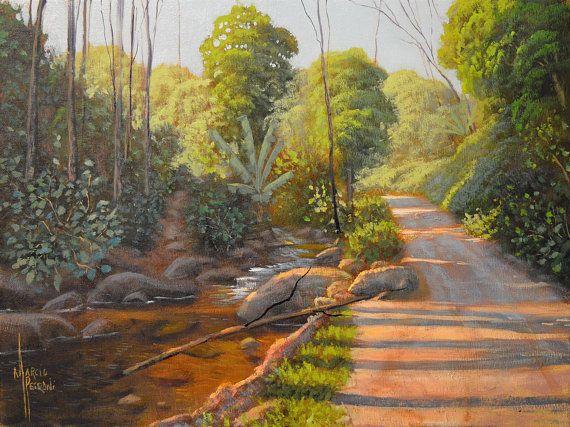 Path To The Mountain Oil Painting Fine Art Landscape Nature Art Living Room Art Fine Art Landscape Landscape Paintings Oil Painting