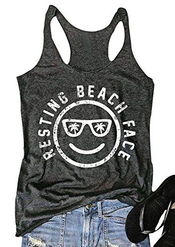 dc6f166becfed Mk Shop Limited Women s Resting Beach Face Sleeveless Fun... https