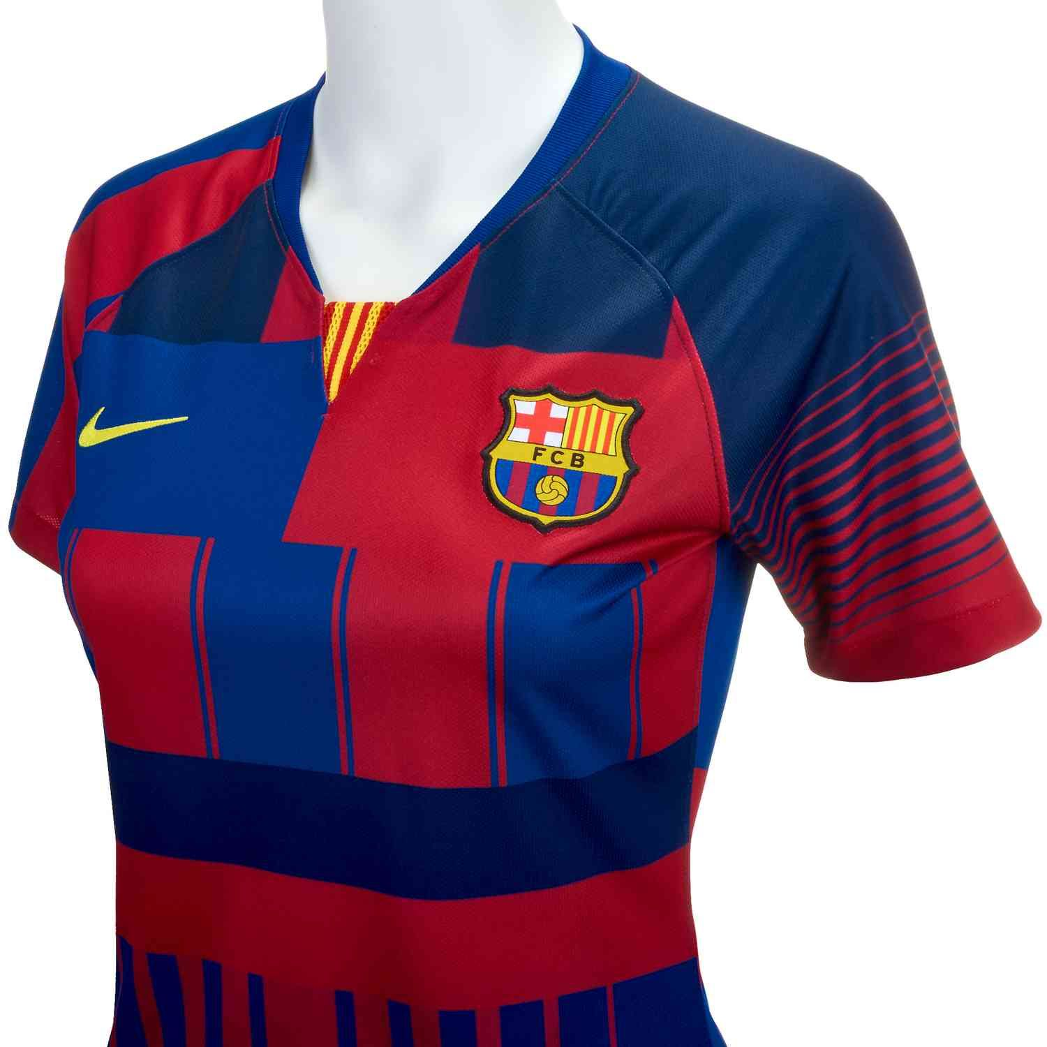 0a4fda752a3 Buy the 2018/19 Nike x Barcelona Womens Anniversary Home Jersey from  www.soccerpro.com