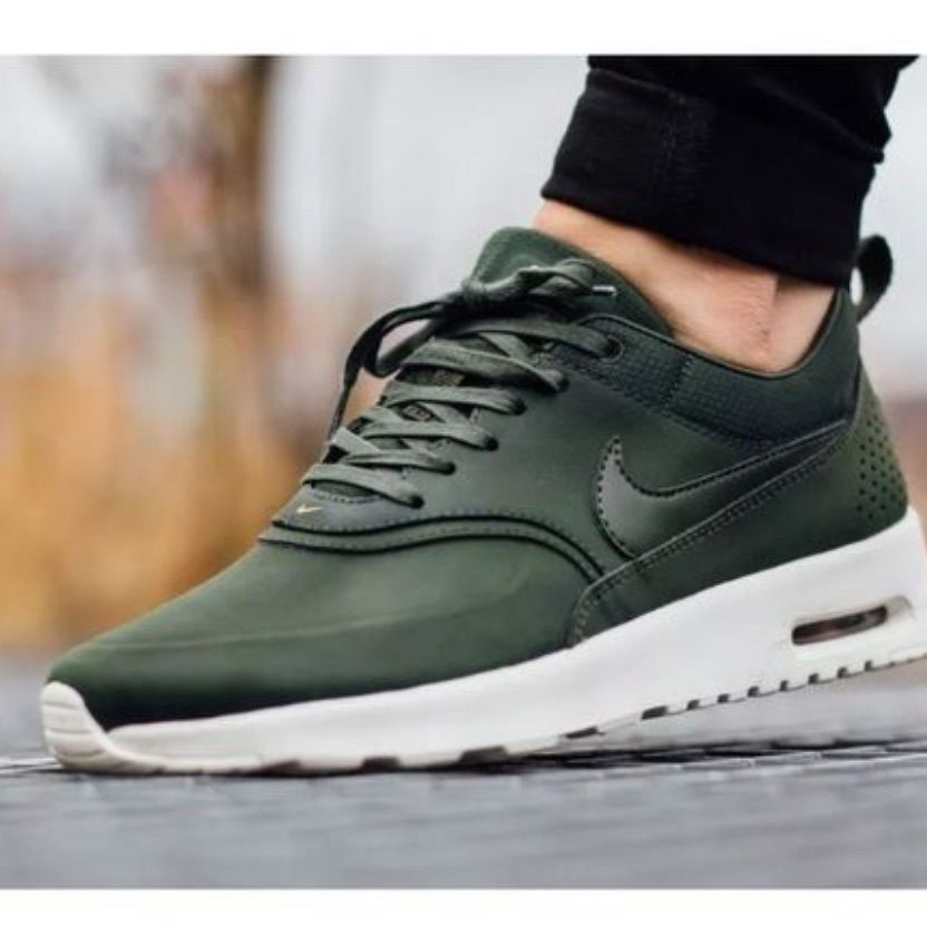 Nike Shoes   Nike Air Max Thea Army Green   Color: Gold