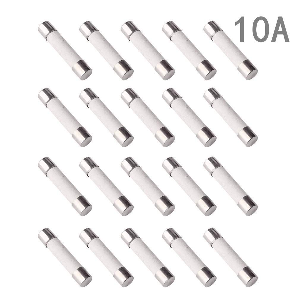 Sansheng Pack Of 20pcs F10al Fast Blow Fuse 10a 250v Ceramic Fuses 5 X 20mm 10amp Read More At The Image Link This Is An Affiliate Fuses Breakers Image