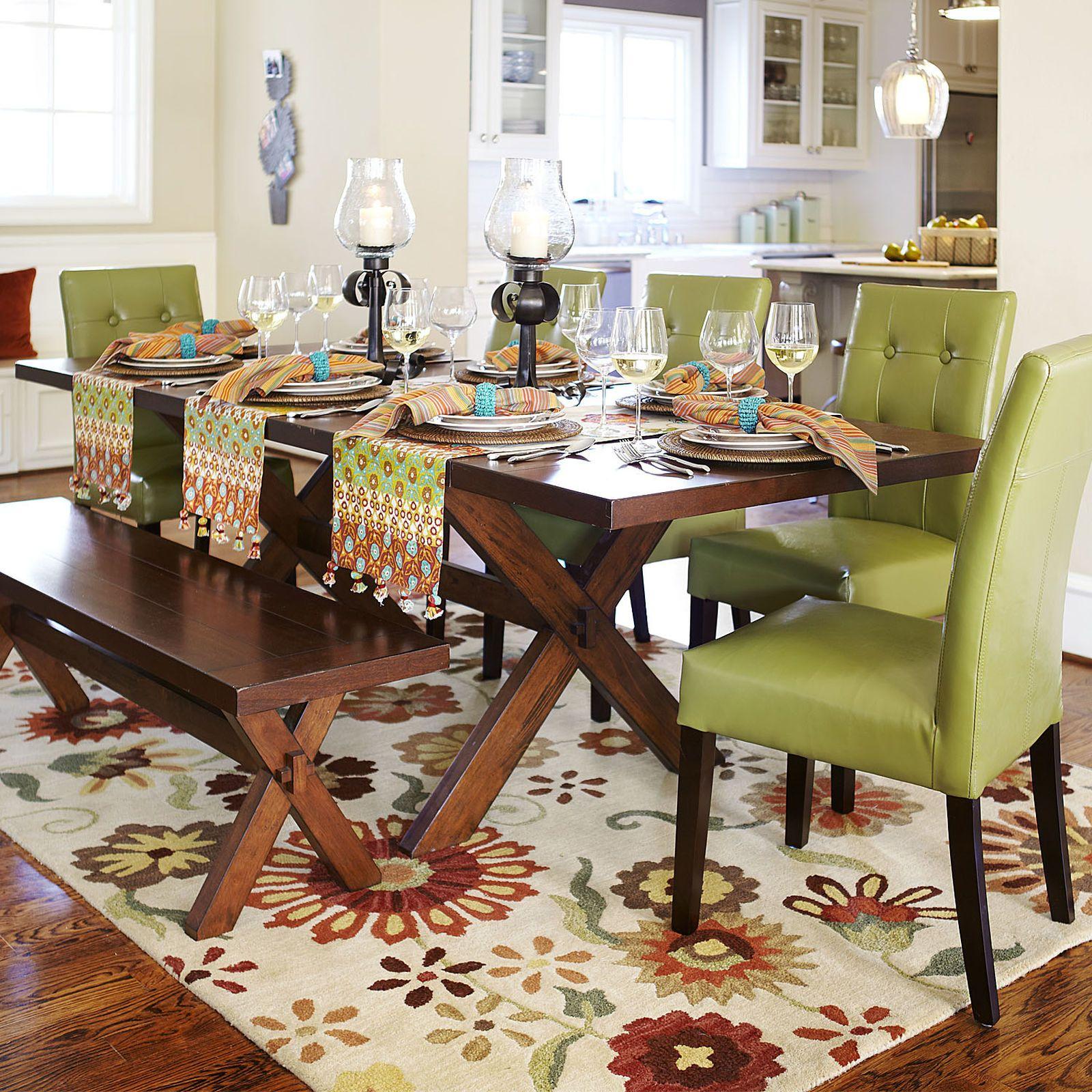 Nolan Extension Tuscan Brown Trestle Table   Trestle table ...