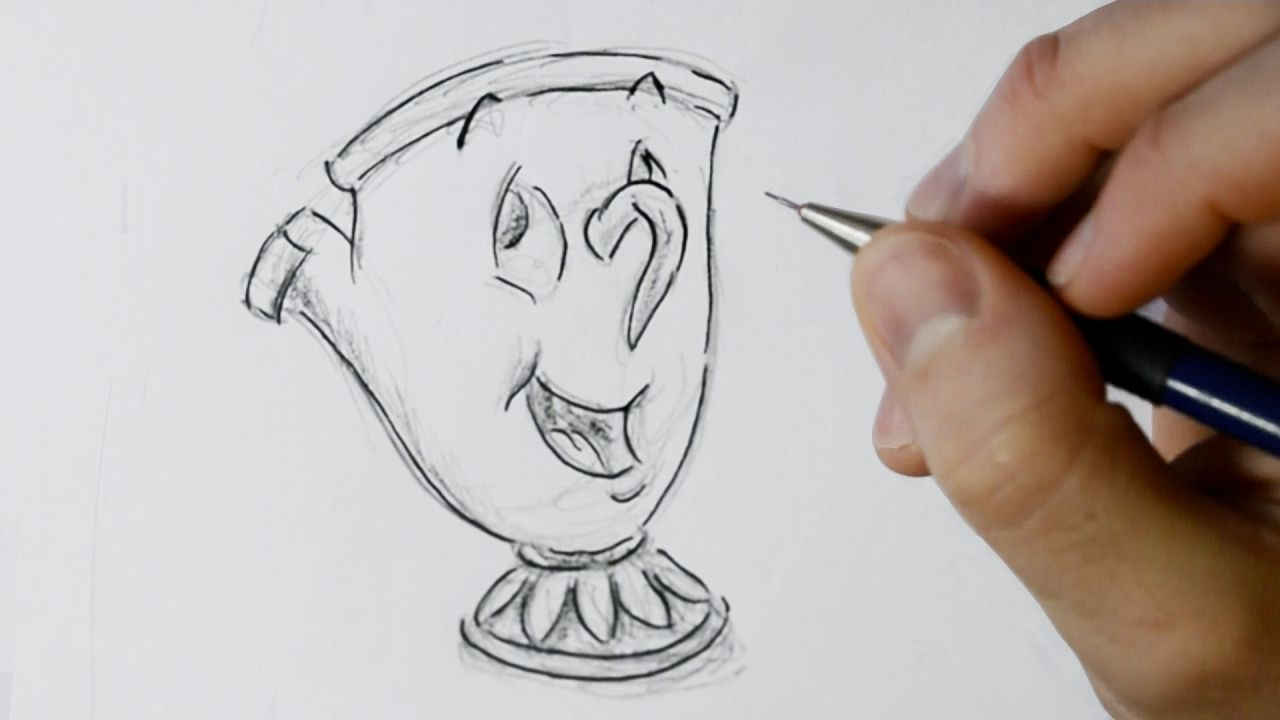 How To Draw Chip Potts From Beauty And The Beast Beauty And