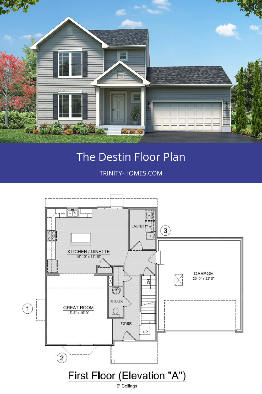 Destin In 2020 Trinity Homes Floor Plans House Floor Plans