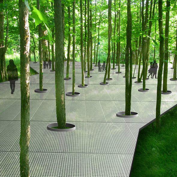 Urban Garden Design: PARC HYDRO-Québec In Montréal (Québec), Canada / Claude