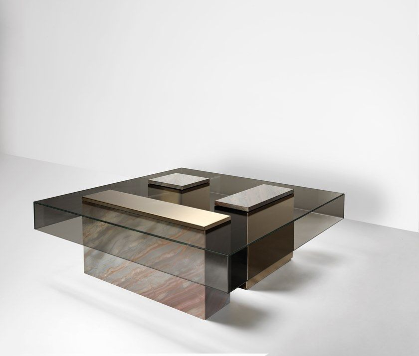 Low Glass Coffee Table For Living Room Marty Coffee Table By