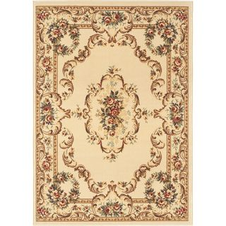 @Overstock - Add timeless elegance to any setting with this charming floral medallion pattern in shades of red, brown and green on a vibrant beige background. This easy to care for rug is constructed of polypropylene for lasting quality and durability. http://www.overstock.com/Home-Garden/Lagoon-4612-Traditional-Beige-Area-Rug-5-x-7/7847475/product.html?CID=214117 $75.99