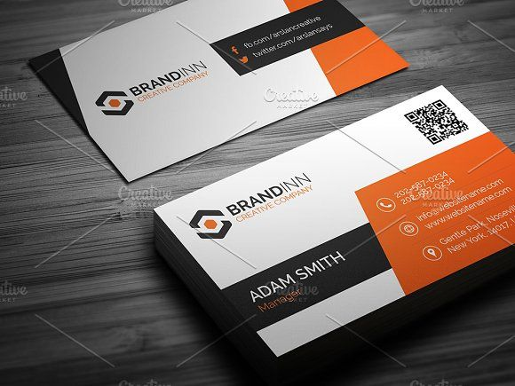 Corporate business card corporate business card templates this simple and clean business card template is suitable for any kind reheart Image collections
