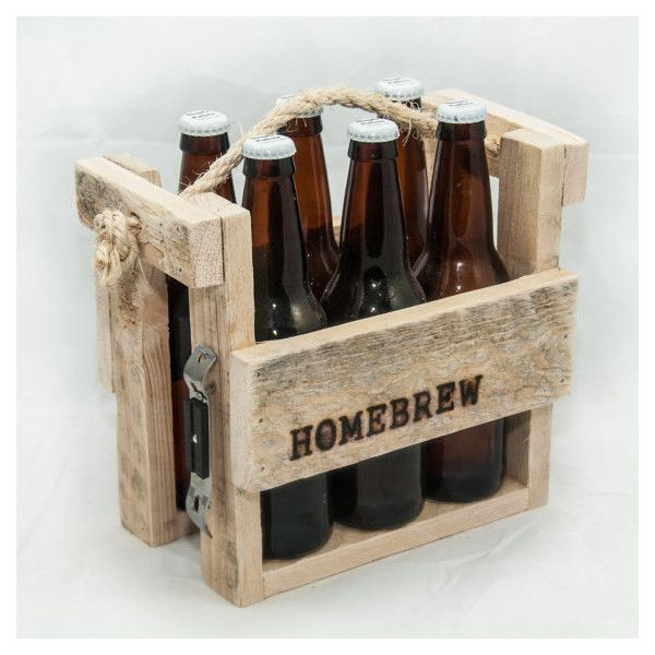 Six Pack Carrier Six Pack Holder 6 Pack Holder Beer Caddy Man Cave 31 Liked On Polyvore Featuring Men S Fashion Beer Caddy Beer Wood Beer Tote