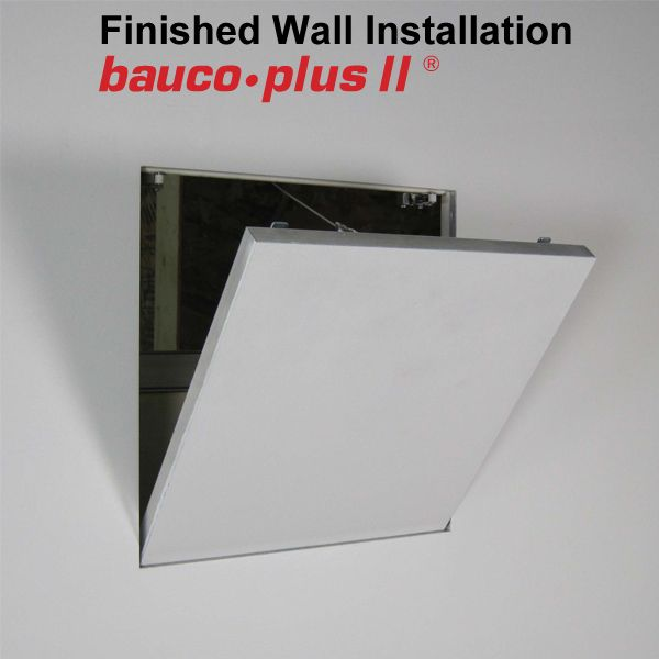 Invisible Hardware Access Panel With Architectural Finish Bauco Plus Ii