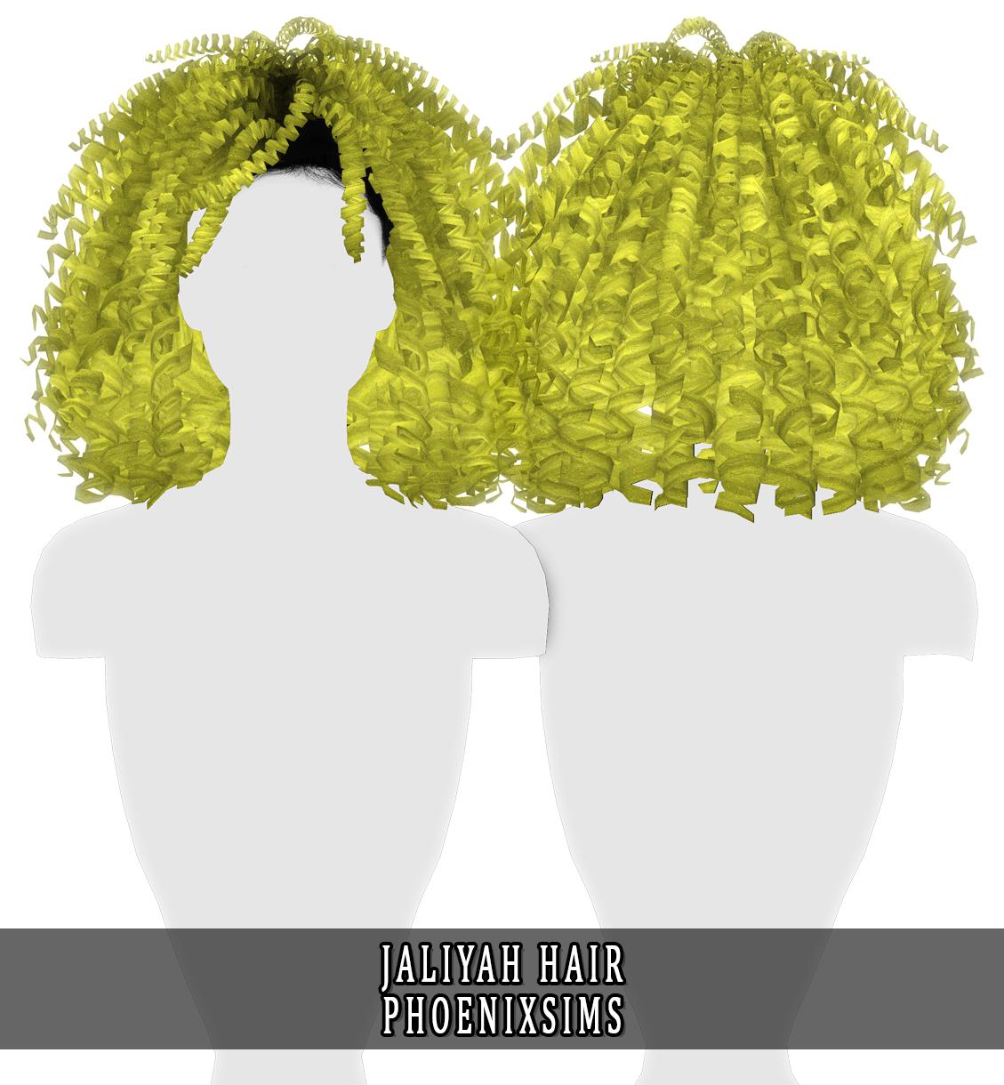 Phoenix Sims Jaliyah Hair 30 Swatches Hq Mod Compatible Sims Hair Sims Diamond Hair