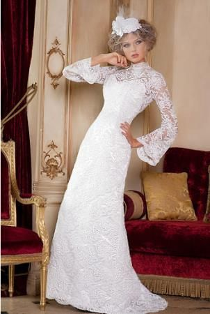 Купить длинное закрытое ретро платье
