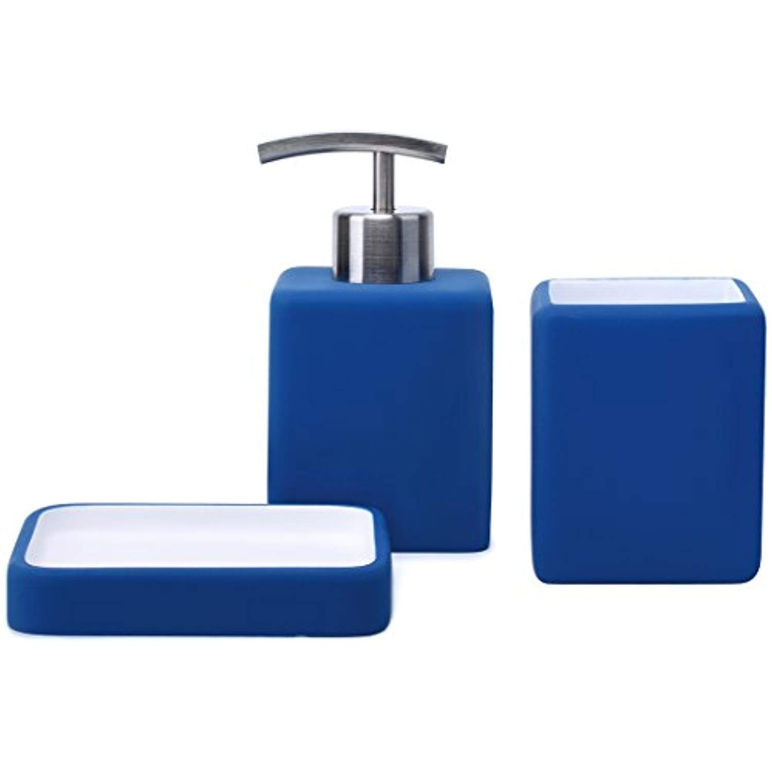 Satu Brown Bathroom Accessories Set Bathroom Soap Dispenser Tumbler Soap Dish 3 Pieces Bathr Bathroom Soap Dispenser Bathroom Accessories Sets Soap Dispenser