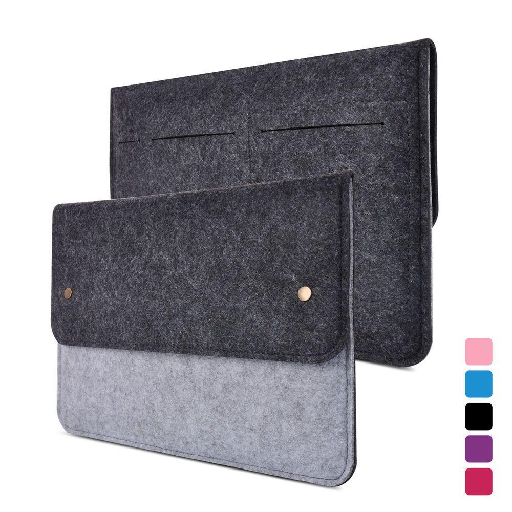 Grey/Black Laptop Felt Sleeve Case Notebook Bag For Apple Macbook Air Retina 13