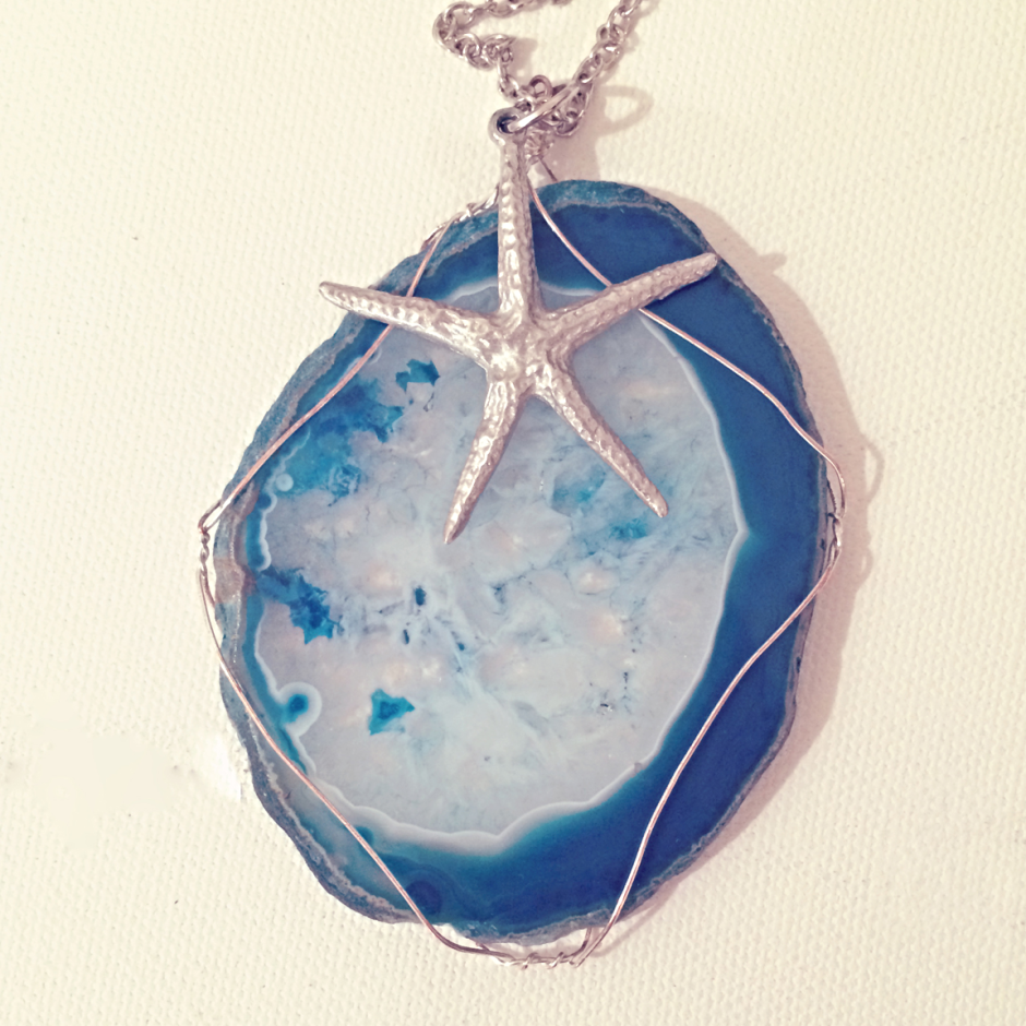 FREE – DIY Wire Wrapped Agate Slice Tutorial. A step by step on how ...