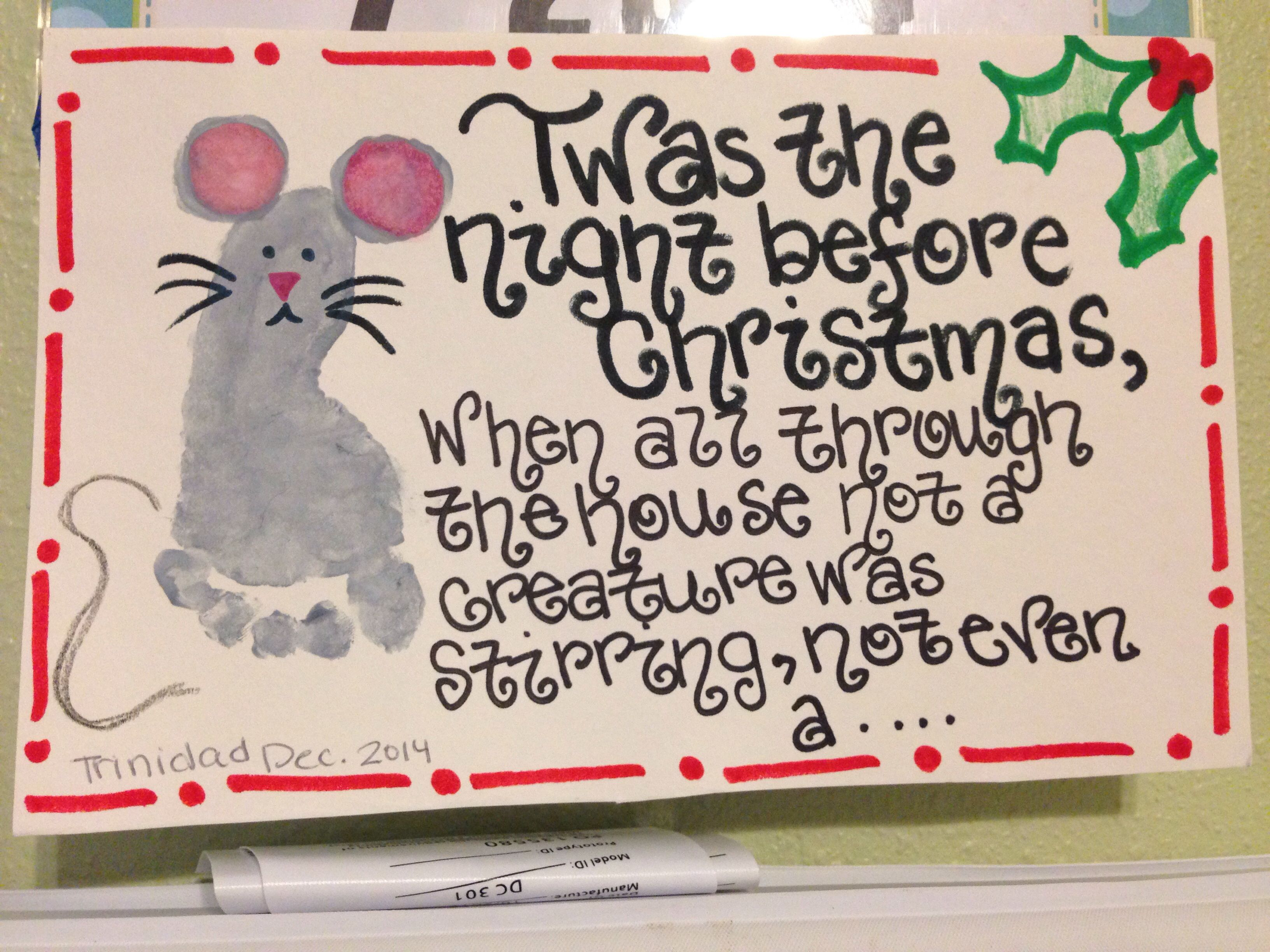 Twas The Night Before Christmas Footprint Mouse