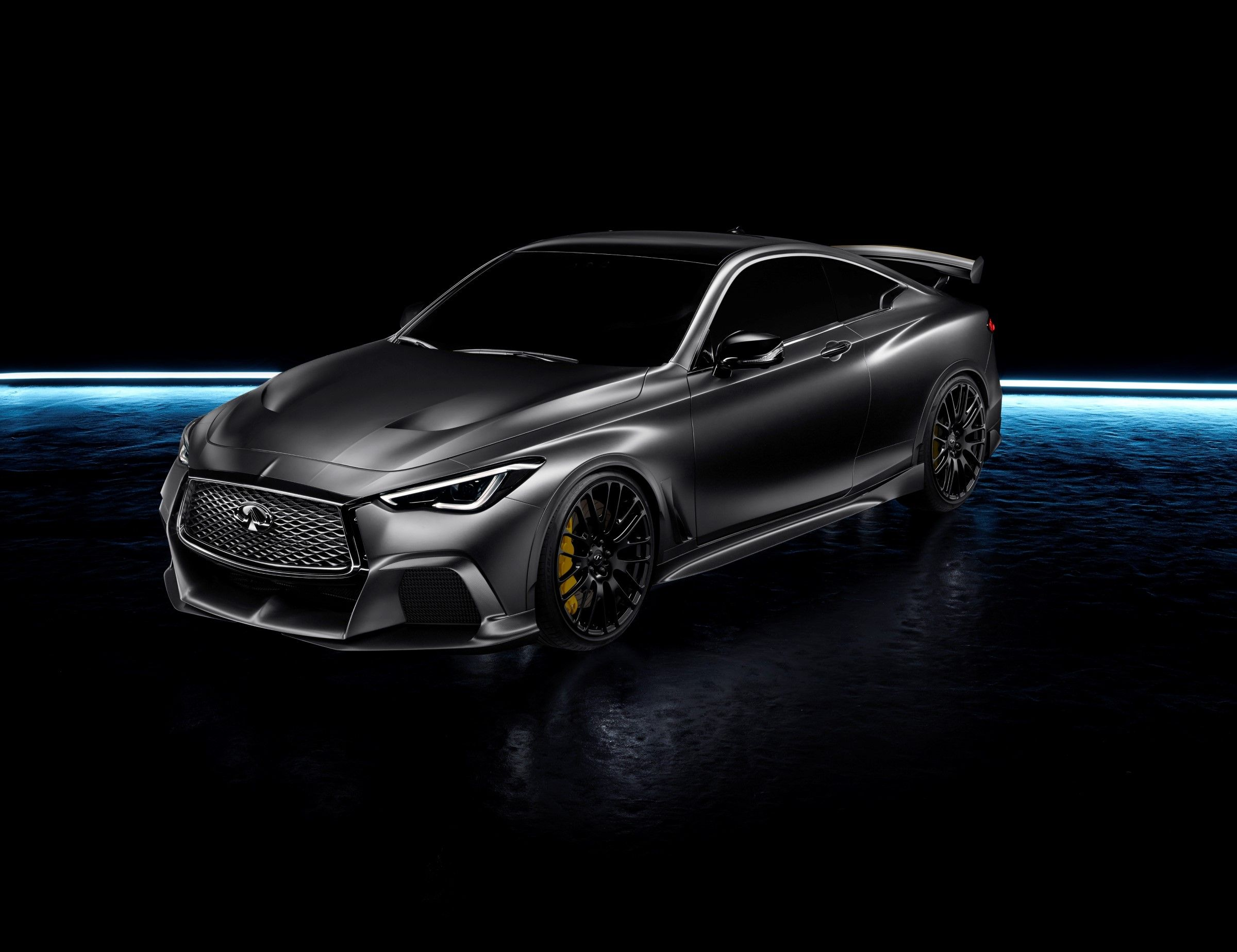 Infiniti black s concept as introduced at the 2017 geneva show via an adapted dual hybrid powertrain using ers energy recovery system technology from