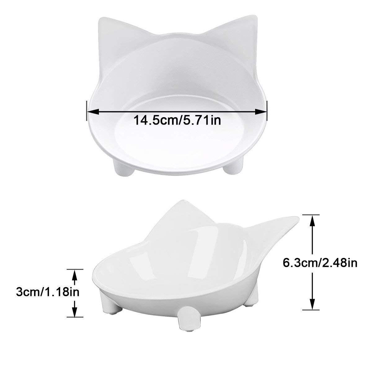 Aemiao Melamine Shallow Cat Food Bowl Wide Mouth Cat Dishes Non Slip Cat Feeding Bowls Cute Kitten Bowls For Relief Of Whis Cat Feeding Kitten Bowls Cat Dishes