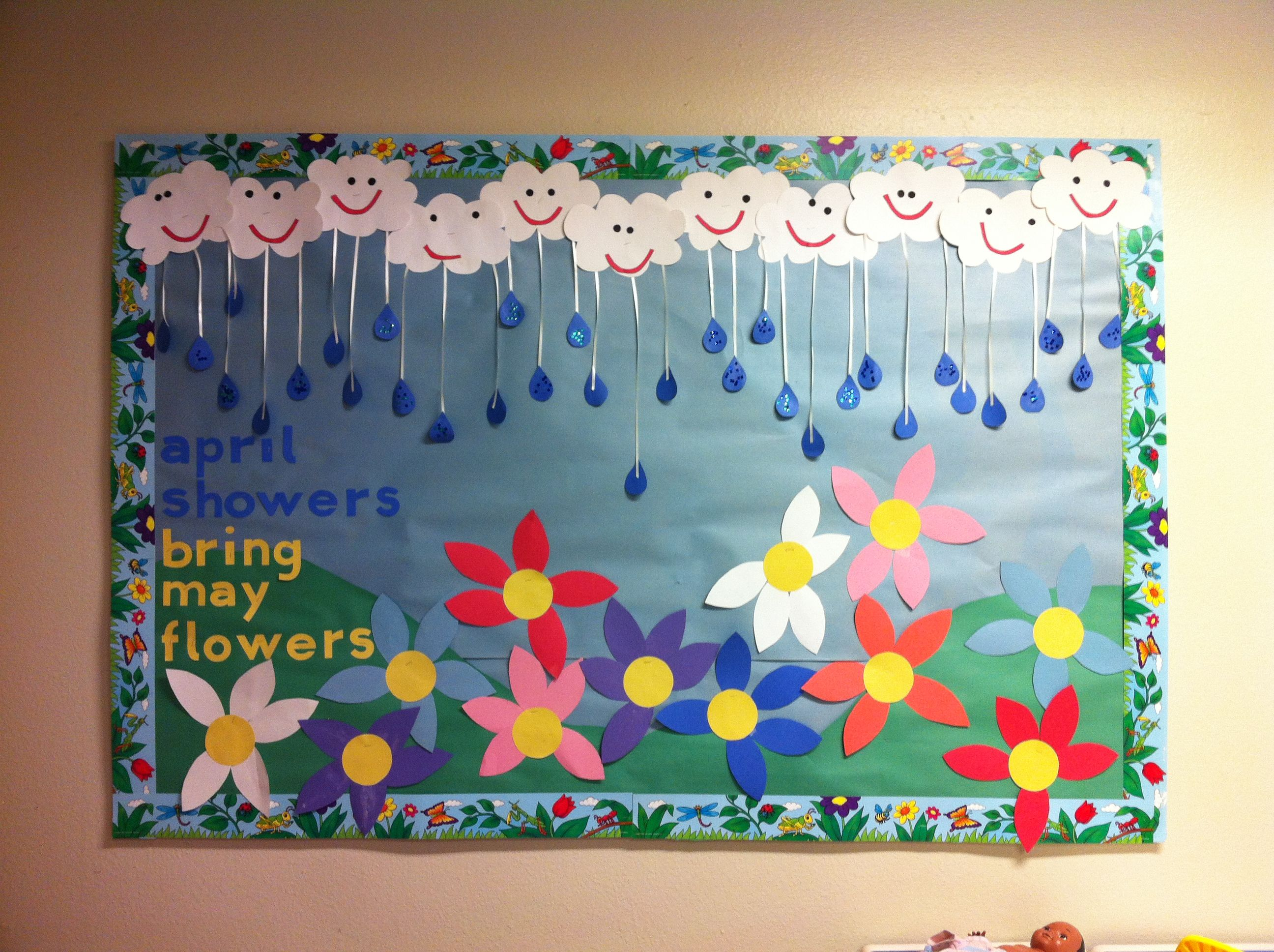 Classroom Decorations For April : Spring bulletin board april pinterest
