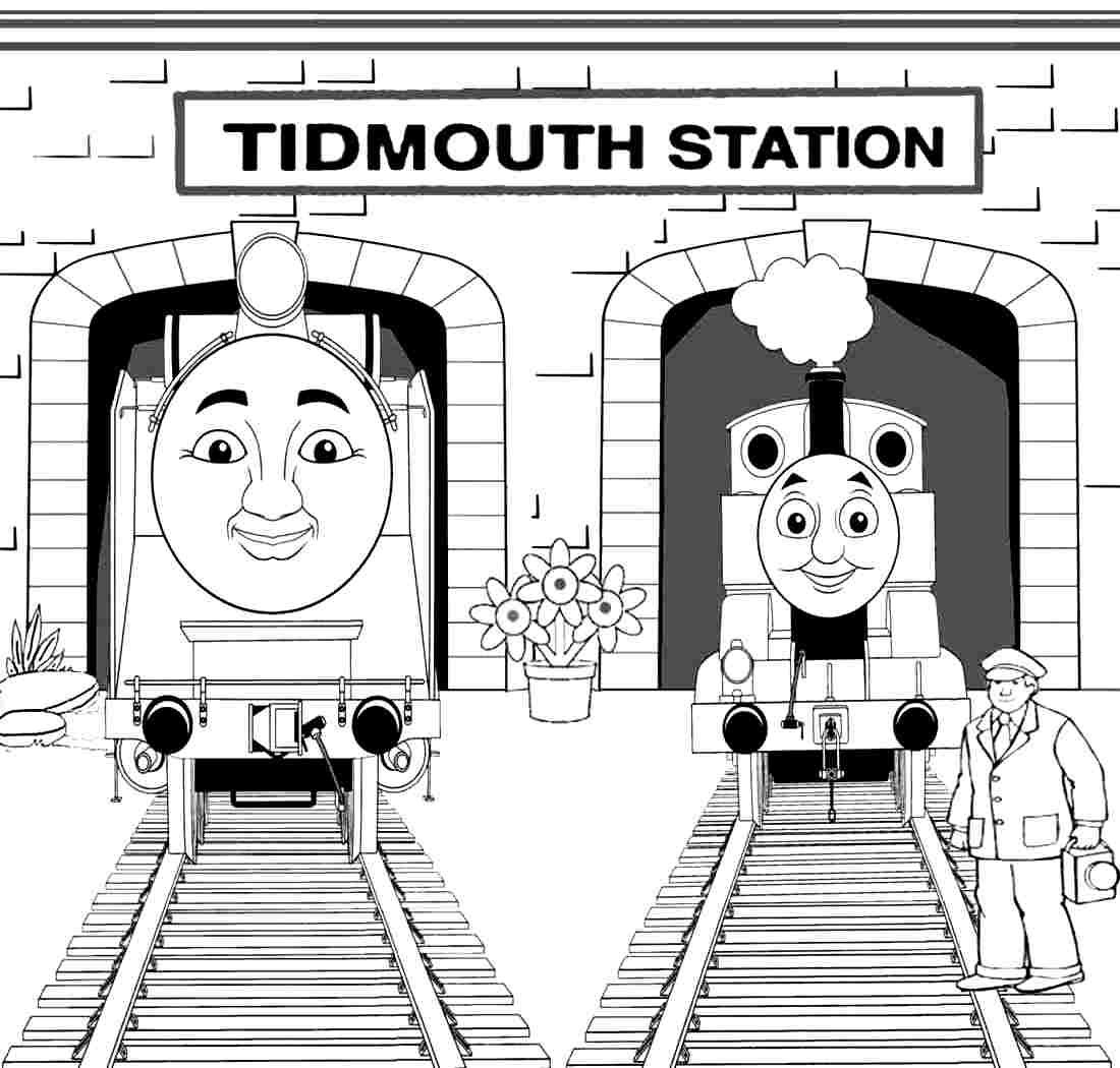 Cartoon Thomas The Train And Friends Colouring Pages Printable