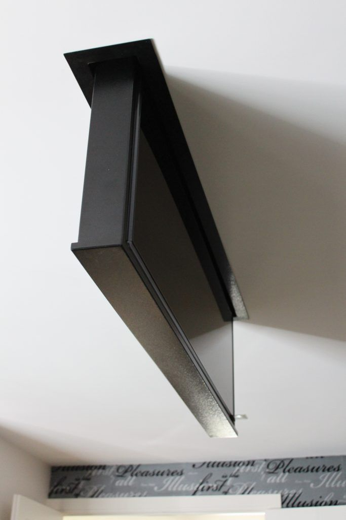 Television That Fully Retracts Into The Ceiling Hidden Tv