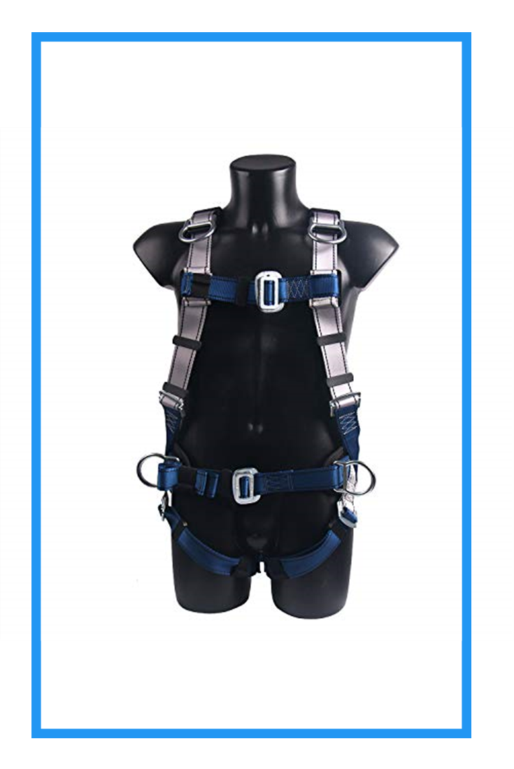 JINGYAT Full Body Safety Harness Fall Protection with 5 D