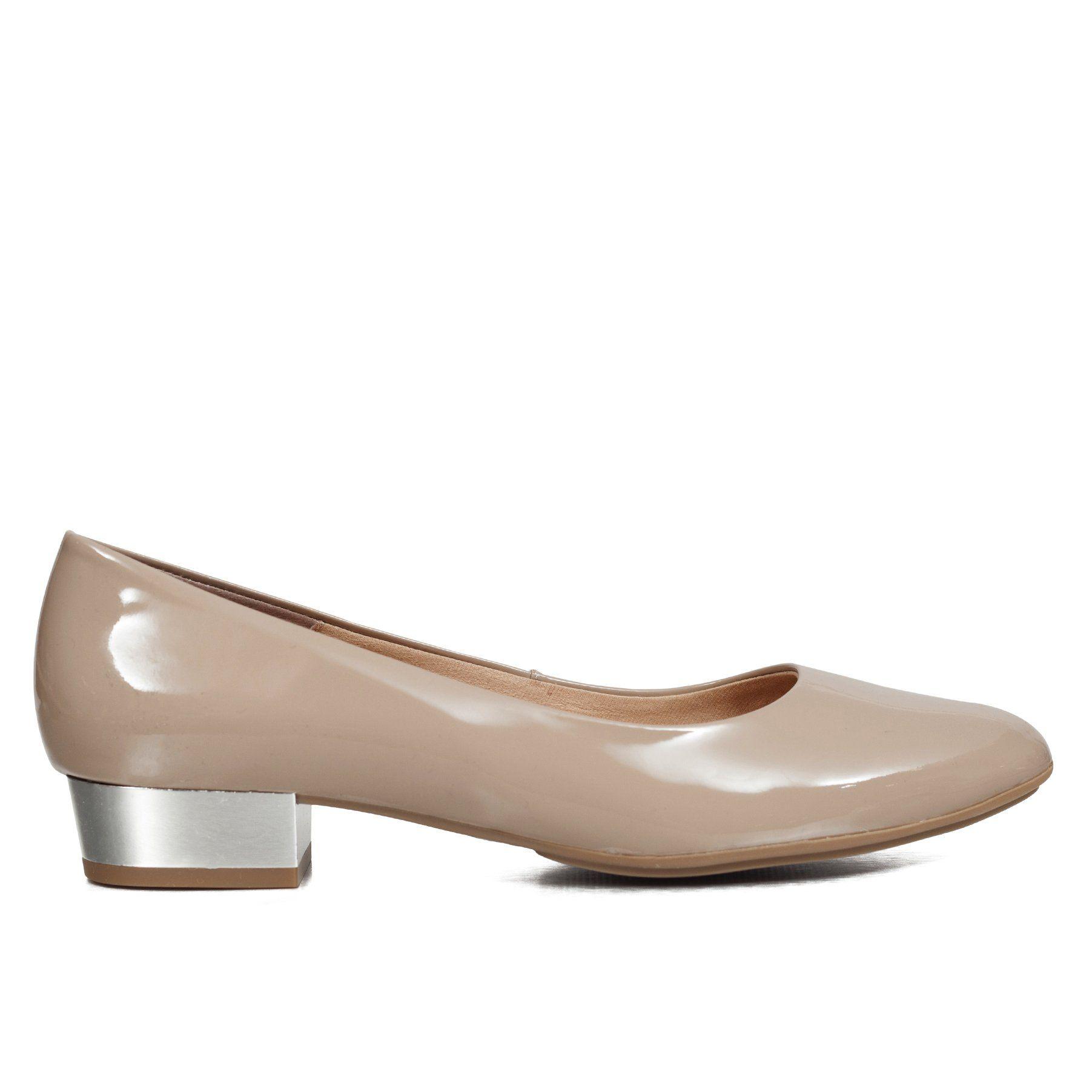 f82b2898 Zapato tacón bajo charol mujer ROSA NUDE – miMaO Spain Tienda Online –  miMaO ShopOnline