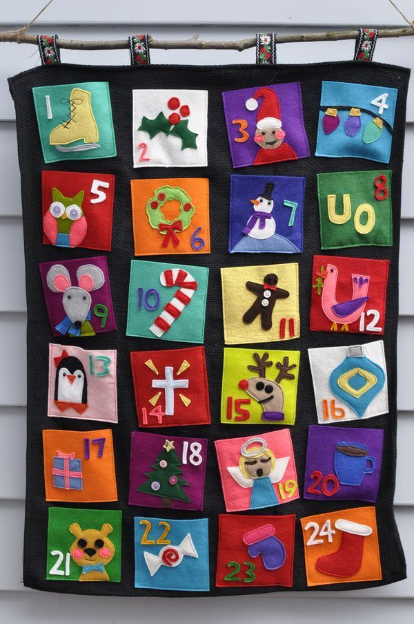 Image result for advent calendars Felt and Embroidery Pinterest