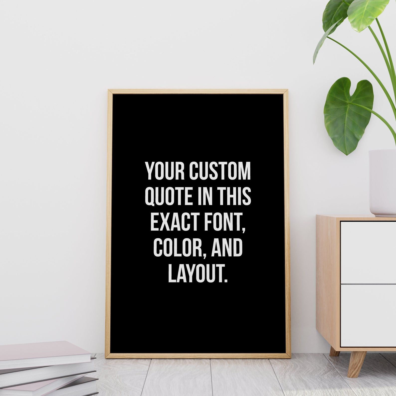 Custom Signs Printable Wall Art Custom Quote Print Black And Etsy In 2020 Custom Quote Print Custom Quotes Personalized Quotes