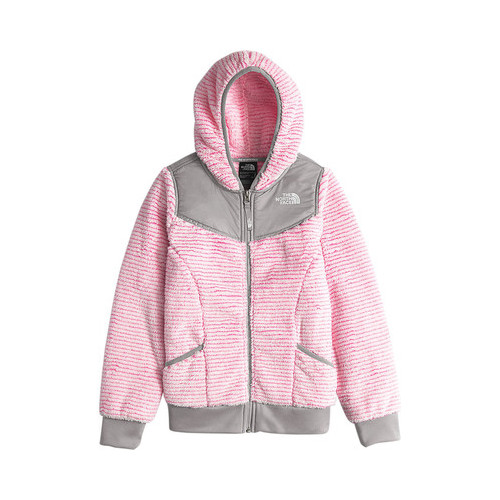 41ffb4a219 Girls  The North Face Oso Hoodie - Cha Cha Pink Stripe Jackets