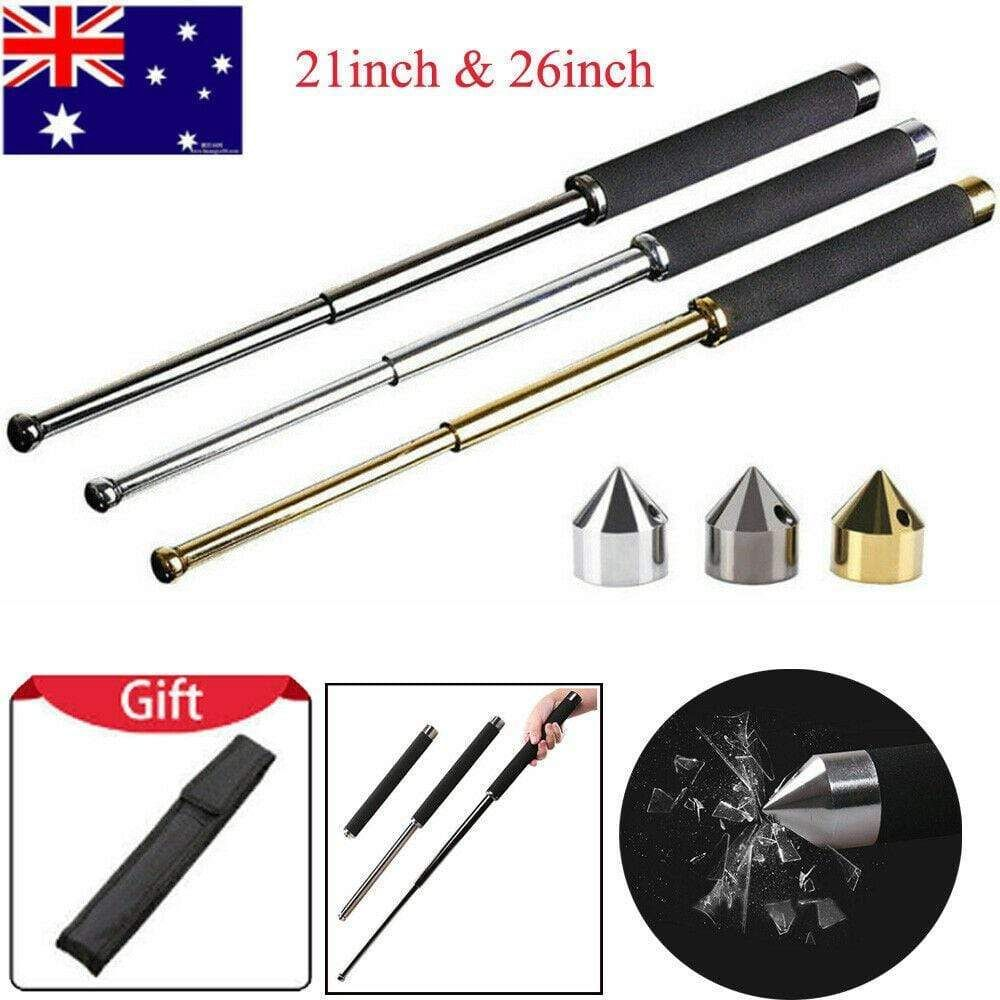 "21/"" 26/"" Portable Pocket Self-defense Telescopic Stick Retractable Outdoor Tools"