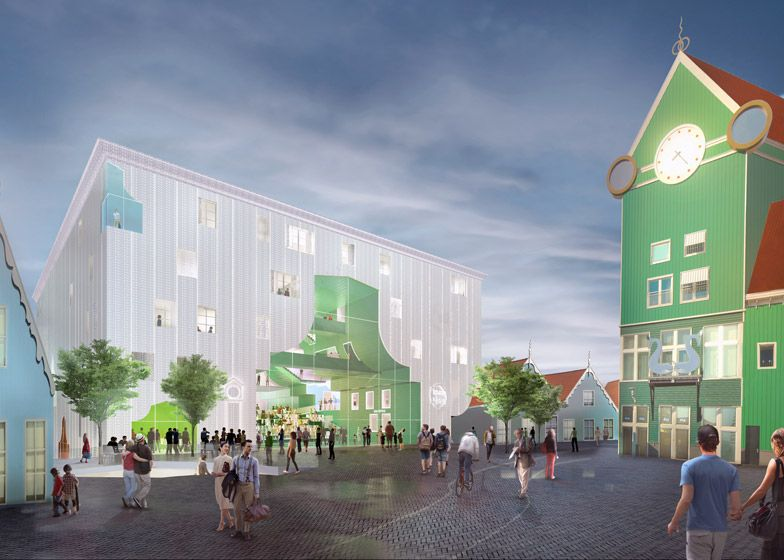 Mvrdv unveils zaanstad cultural cluster design building for Architecture firms in netherlands