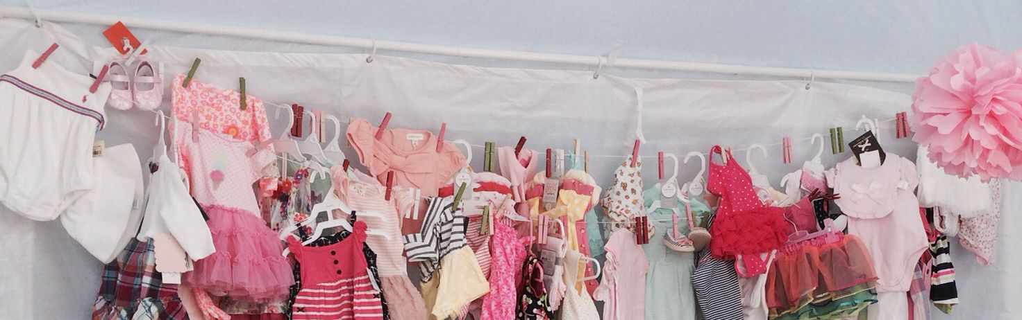 Hang baby clothes at the shower for everyone to see!