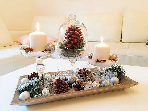 DIY Winterdeko für das Wohnzimmer   Winter Dekoration - YouTube - winter deko wohnzimmer