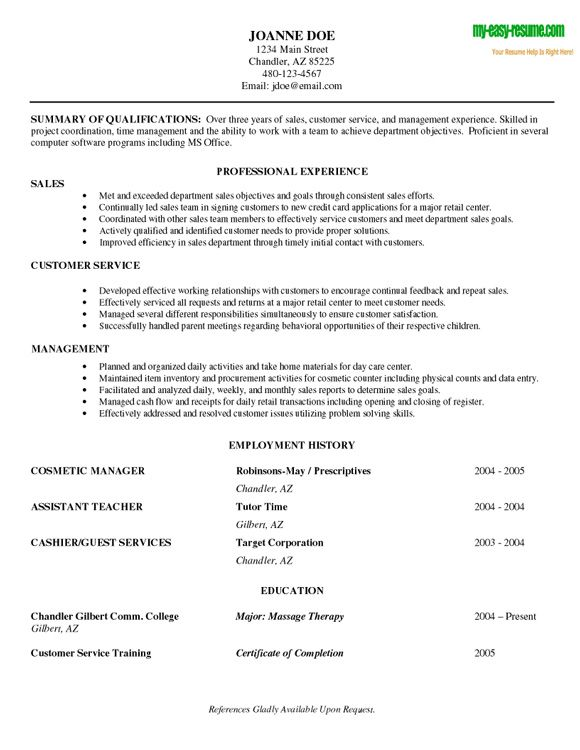 Beginner Pinterest Sample resume, Entry level and Resume objective