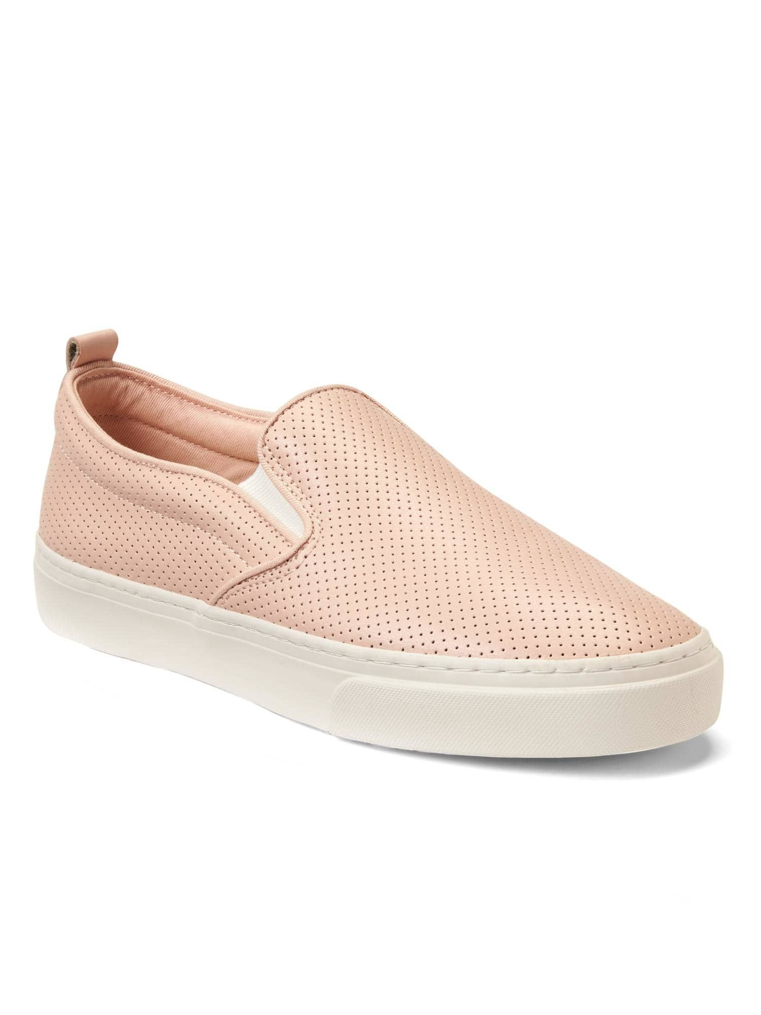 Light tan leather slip on trainers cheap sast i9xWf5GH