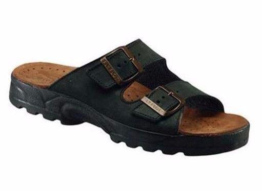 Dr Martens Myles Sandals Men's Sz US 7, EU 39 Black Leather Slip On NEW