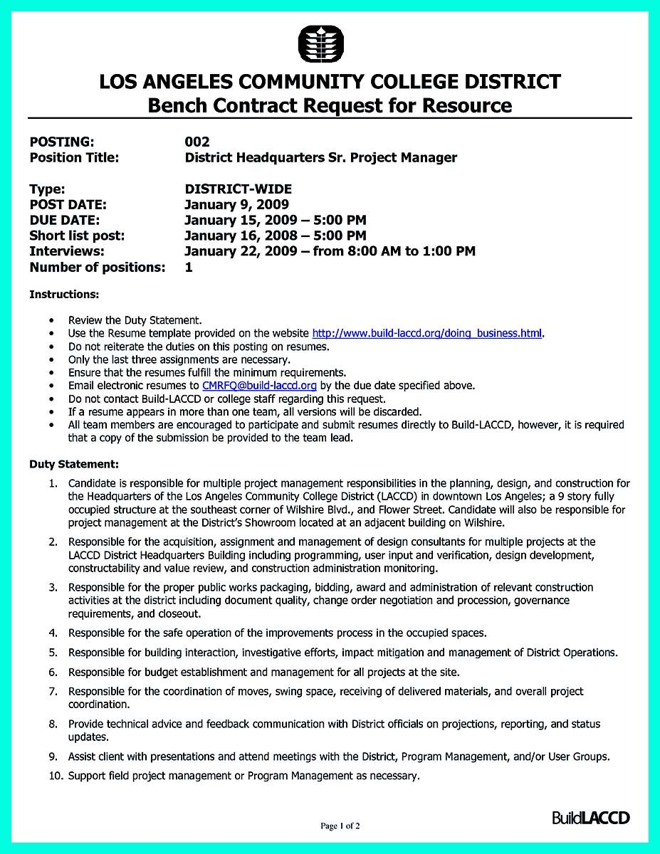 District Manager Resume Cool Cool Construction Project Manager Resume To Get Applied