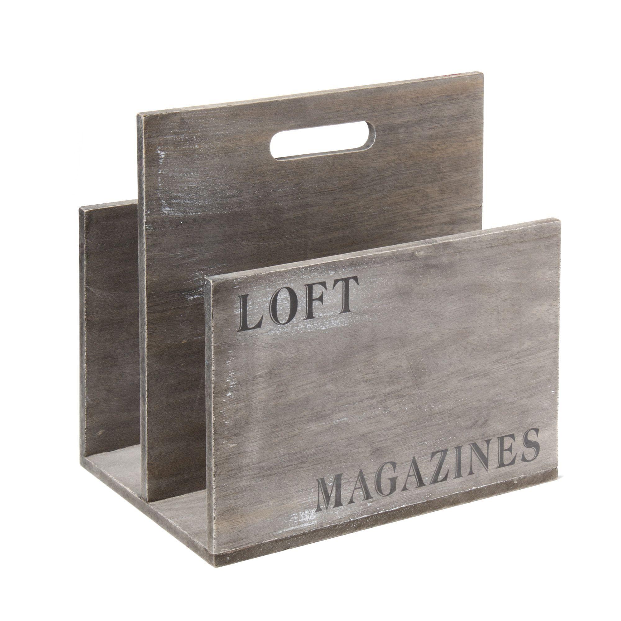 Porte Revue Vieilli Loft Rangement Les Boites Les