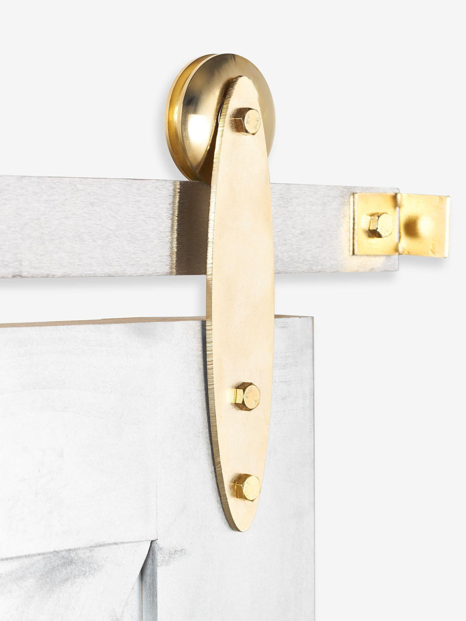 Gold Hardware Set The White Shanty Shoppe Interior Barn Door Hardware Sliding Doors Interior Sliding Barn Door Hardware