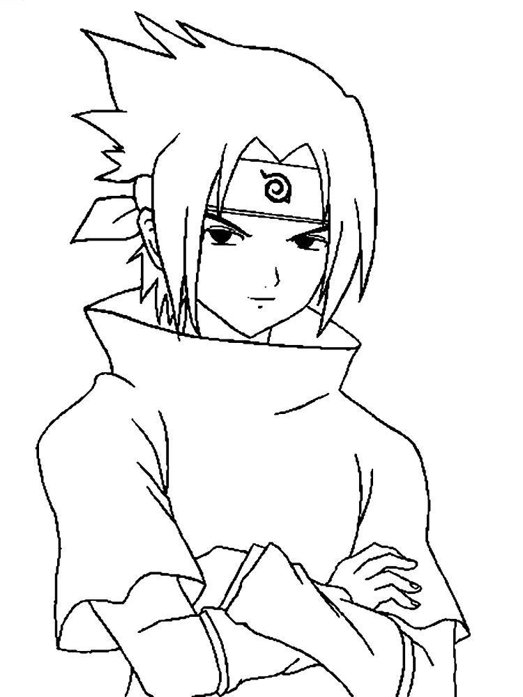 Dibujos para colorear Sasuke Uchiha, para desarrollar la