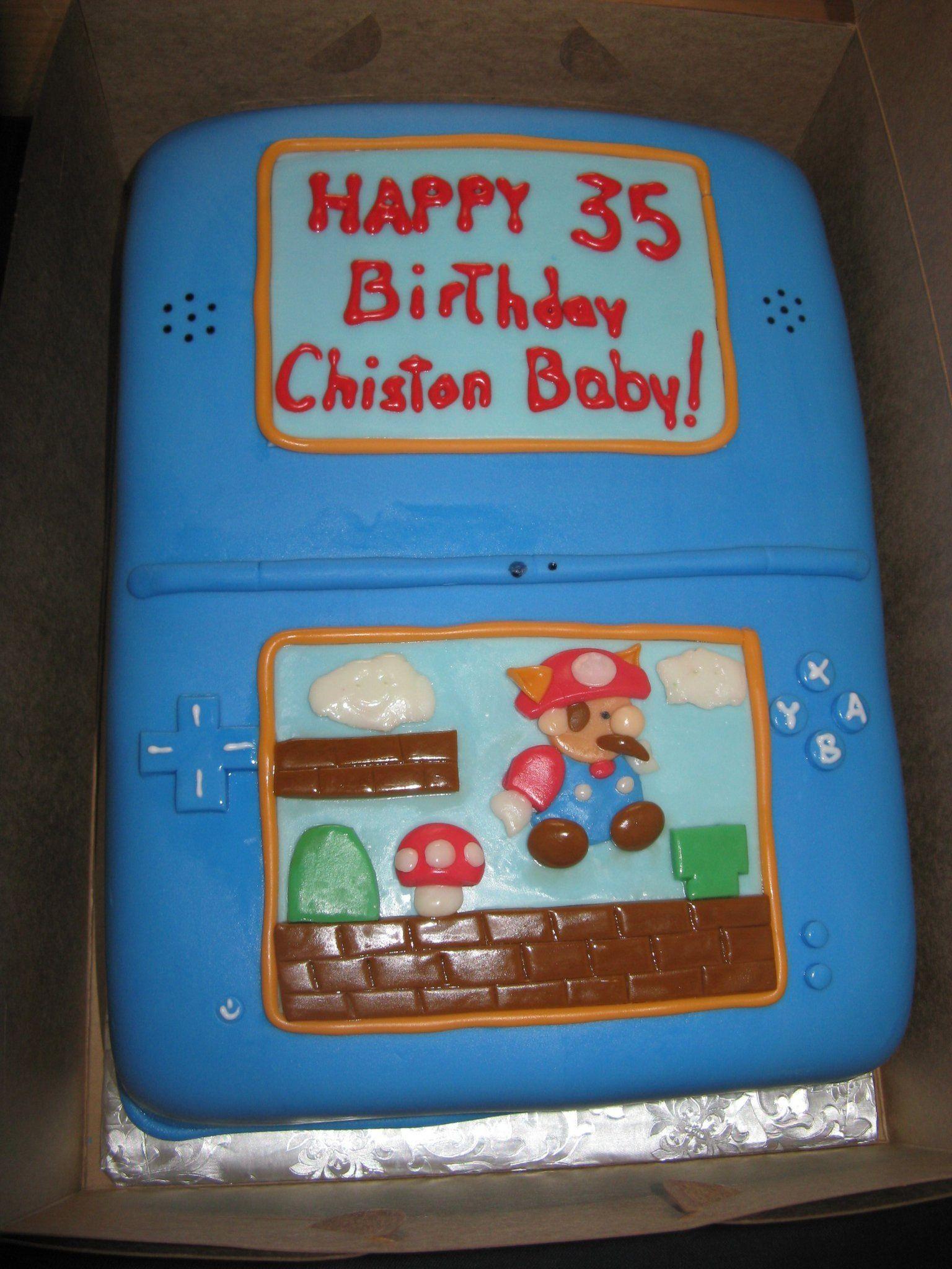 Christons birthday cake happy 35th birthday 35th