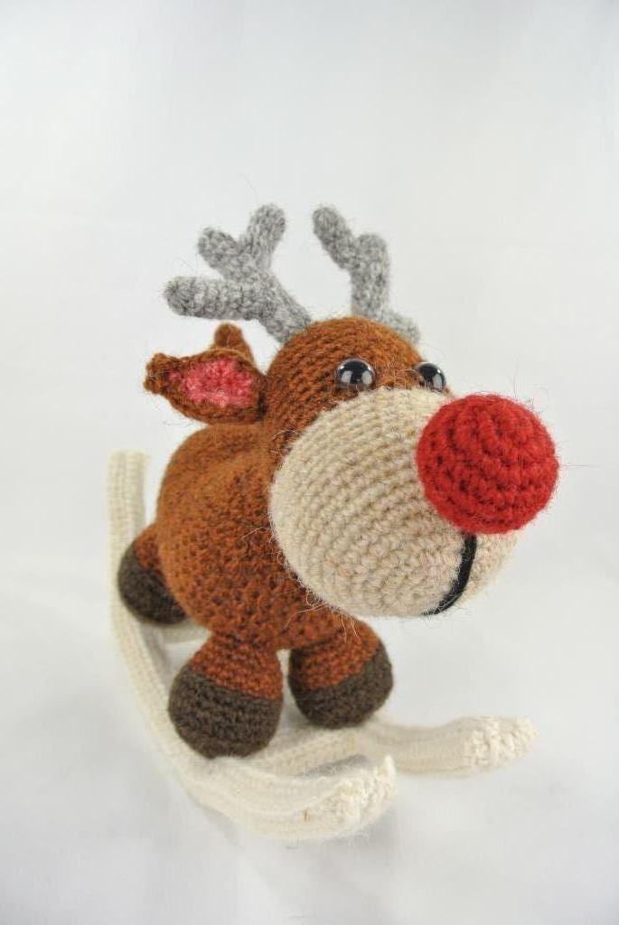Hobbeldieren Haken Rudolph Haakpret Christmas Crochet Pinterest