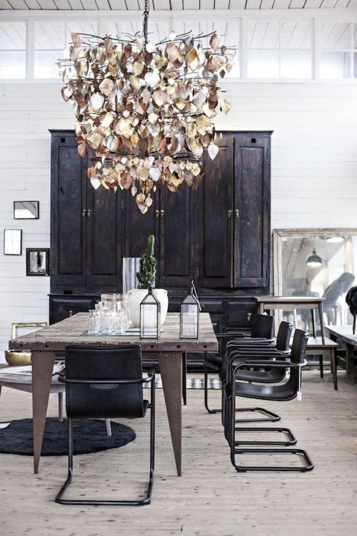 buffet salle manger armoire noire pour salle manger design
