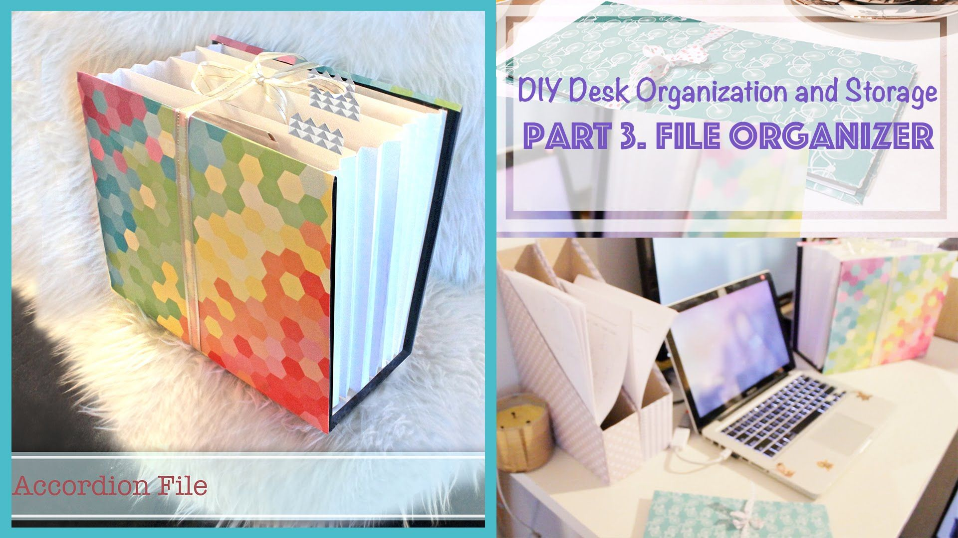 DIY File Organizer from Recycled Box Desk Organization