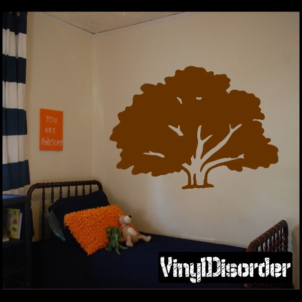 Oak Tree Wall Decal - Vinyl Decal - Car Decal - NS002